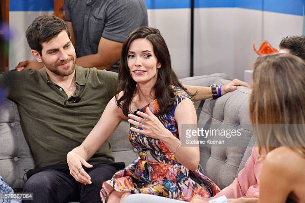 David Giuntoli and Bitzie Tulloch from Grimm visit the Fandango Studio at San Diego ComicCon International 2016 on July 23 2016 in San Diego...
