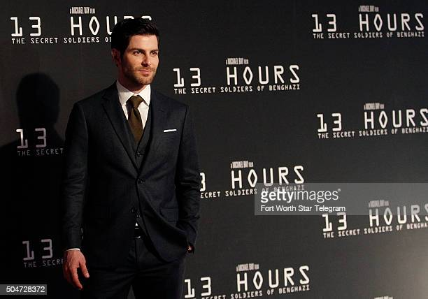 David Giuntoli attends the premiere of '13 Hours The Secret Soldiers of Benghazi' at ATT Stadium in Arlington Texas on Tuesday Jan 12 2016