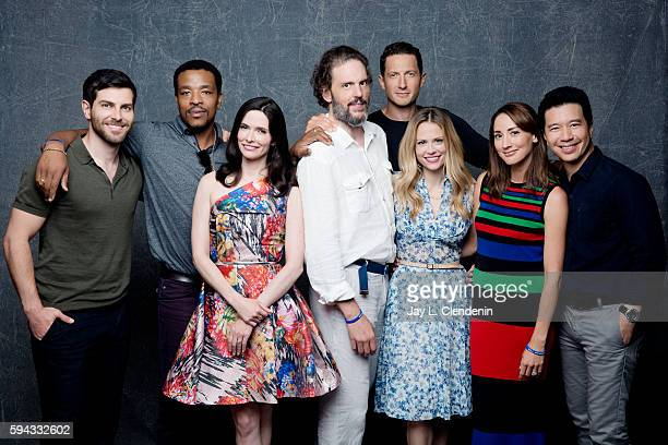 David Giuntoli Russell Hornsby Elizabeth Tulloch Silas Weir Mitchell Sasha Roiz Claire Coffee Bree Turner and Reggie Lee of Grimm are photographed...