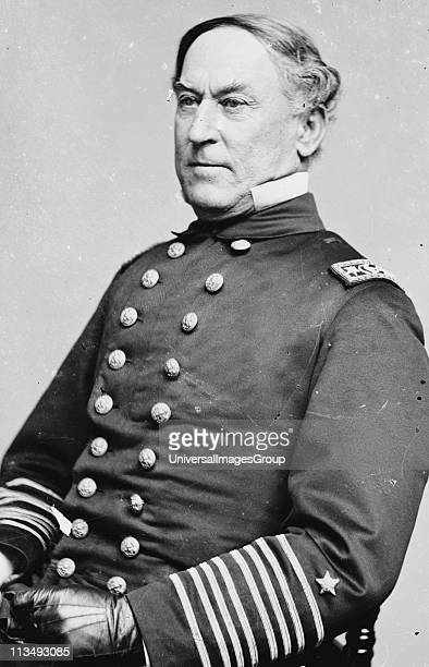 David Glasgow Farragut officer of the United States Navy during the American Civil War 1861-1865. First rear admiral, vice admiral, and full admiral...