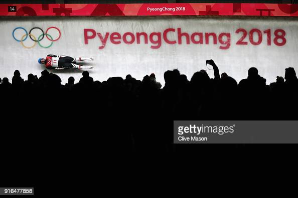 David Gleirscher of Austria slides during the Men's Singles Luge on day one of the PyeongChang 2018 Winter Olympic Games at Olympic Sliding Centre on...