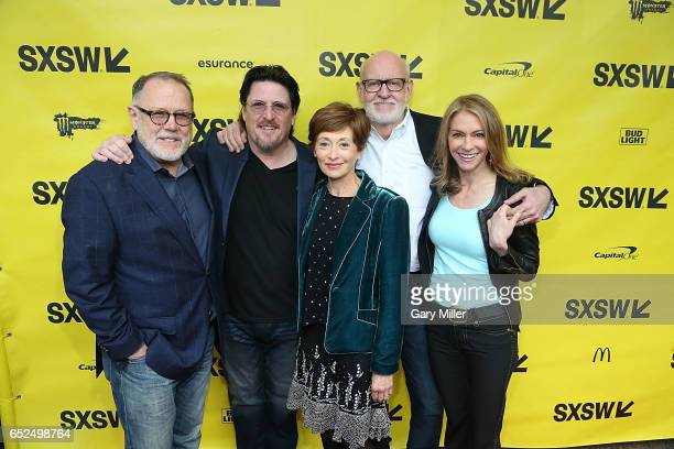 David Goelz Bill Barretta Fran Brill Frank Oz and Victoria Labalme attend the world premiere of 'Muppet Guys Talking' at the Paramount Theater during...