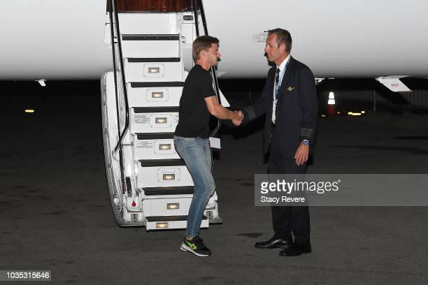 David Goffin arrives for Laver Cup 2018 on September 17 2018 in Chicago Illinois