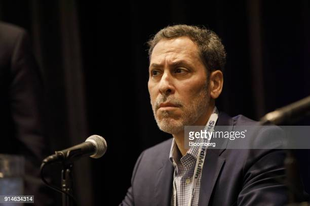 David Goffin founder and chief executive officer of the Content Works Studios listens during the Digital Entertainment World conference in Marina Del...