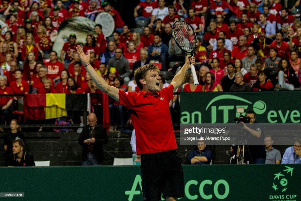 Belgium v Argentina Davis Cup Semi Final 2015 - Day 1 : News Photo