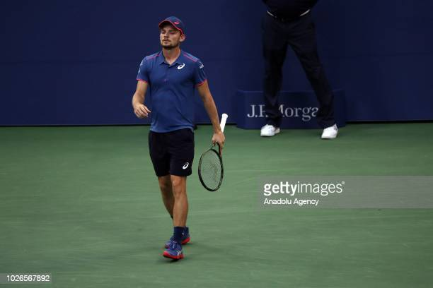 David Goffin of Belgium competes against Marin Cilic of Croatia during US Open 2018 tournament in New York United States on September 3 2018