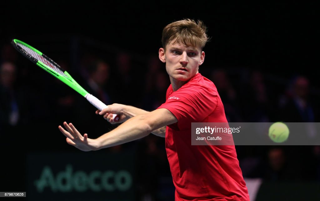 Davis Cup World Group Final - France v Belgium - Day Three : News Photo