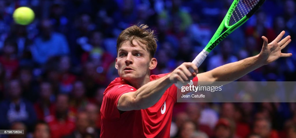 Davis Cup World Group Final - France v Belgium - Day Three : ニュース写真