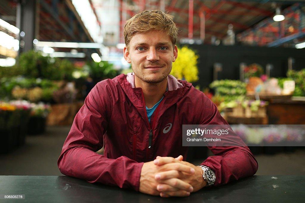 David Goffin of Belgium poses during a visit to Prahran ...
