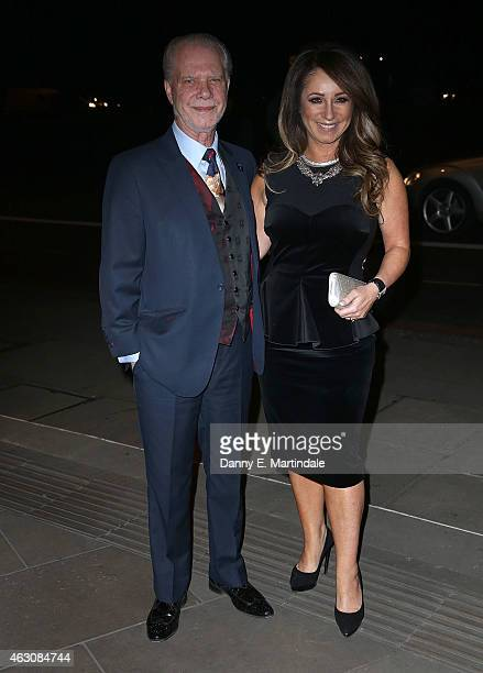 David Gold and Jacqueline Gold attend the White And Black Ball for the conservative party donors at The Grosvenor House Hotel on February 9, 2015 in...