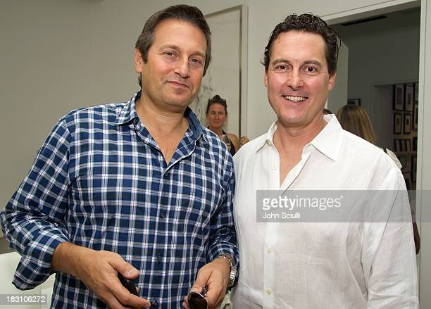 David Goldberg and Grant Withers attend the Rema Hort Mann Foundation conversation with Susan and Michael Hort on September 28 2013 in Los Angeles...