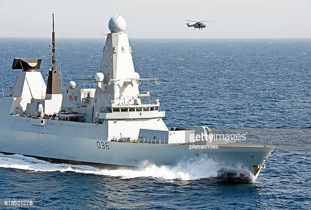 david & goliath, arabian sea - royal navy stock pictures, royalty-free photos & images