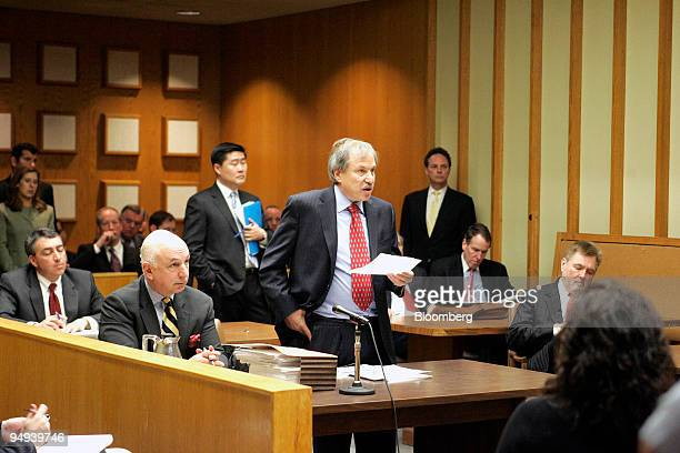 David Golub a lawyer representing the town of Fairfield Connecticut center speaks before Judge Arthur Hiller during a hearing at Fairfield County...