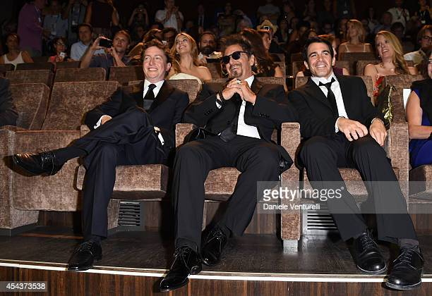 David Gordon Green Al Pacino and Chris Messina attend 'Manglehorn' Premiere during the 71st Venice Film Festival at Sala Grande on August 30 2014 in...