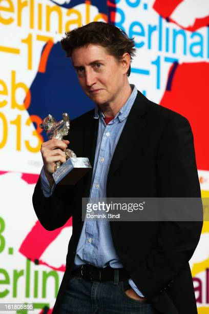 David Gordon Green poses with the award as best director at the Award Winners Press Conference during the 63rd Berlinale International Film Festival...