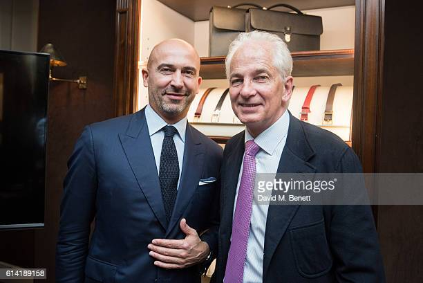 David Gower and Fabrizio Cardinali attend the World Land Trust evening hosted by Alfred Dunhill at Bourdon House October 12 2016 in London England