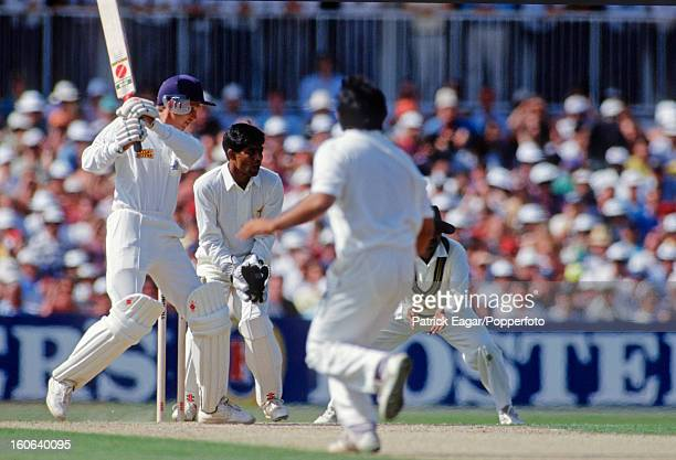 David Gower batting 5th Test England v Pakistan The Oval August 1992