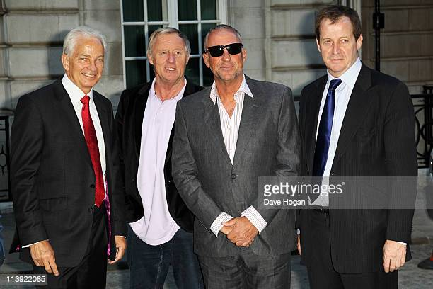 David Gower Chris Tarrant Ian Botham and Alastair Campbell attend the World premiere of From The Ashes at the Curzon Mayfair on May 10 2011 in London...