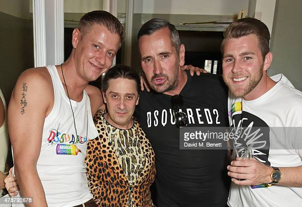 David Graham Bernie Katz Fat Tony and Dan Wilson attend the Absolut Colours launch event at The Groucho Club on June 27 2015 in London England