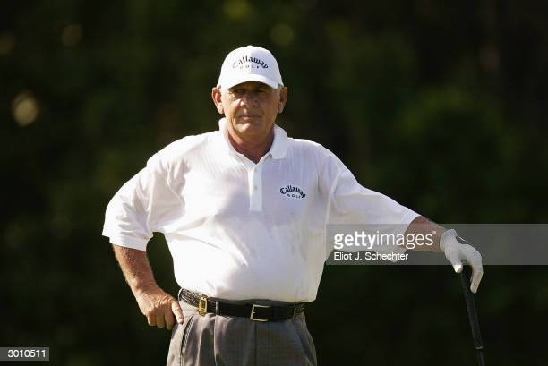 David Graham during the first round of the Royal Caribbean Golf Classic at the Crandon Park Golf Course in Key Biscayne, Florida.