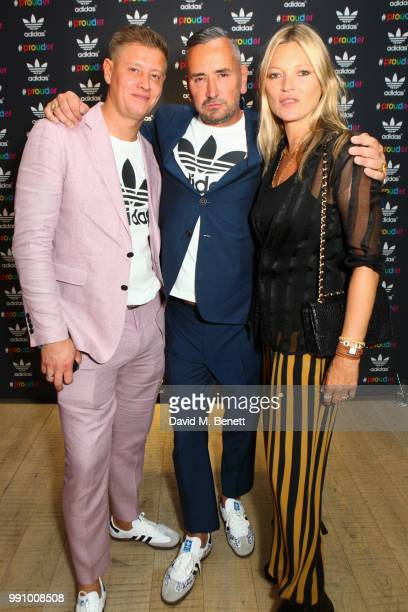 David Graham Fat Tony and Kate Moss attend adidas 'Prouder' A Fat Tony Project in aid of the Albert Kennedy Trust supporting LGBT youth at Heni...