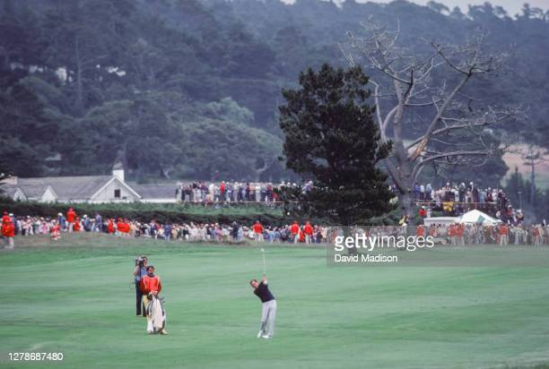 David Graham of Australia competes in the 1982 U.S. Open golf tournament held from June 17-20 1982 at Pebble Beach, California.