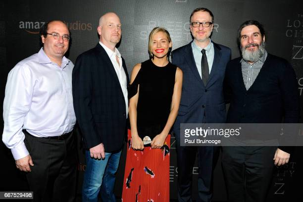 David Grann Dale Armin Johnson Sienna Miller James Gray and Anthony Katagas attend Amazon Studios Bleecker Street Host a Screening of 'The Lost City...