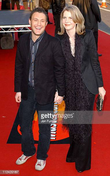 David Gray and wife during 2003 Brit Awards In Association With Mastercard Arrivals at Earls Court in London Great Britain