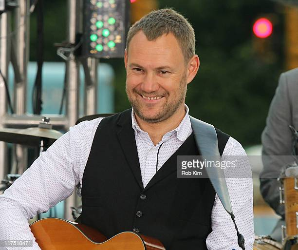 David Gray performs at the CBS Early Show Studio Plaza on June 27 2011 in New York City