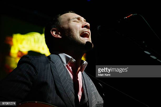 David Gray performs at the Sound And Vision fundraiser for Cancer Research UK at Abbey Road Studios on February 25 2010 in London England
