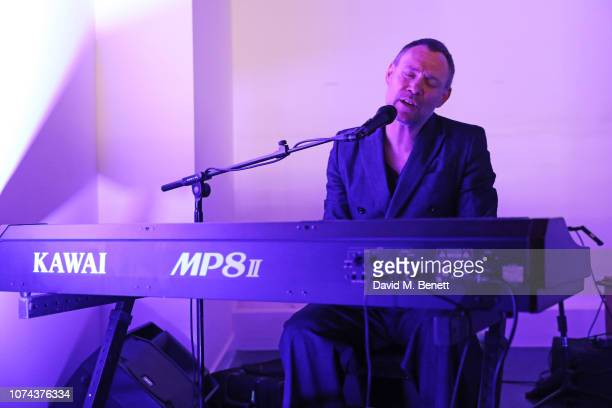 David Gray performs during a solo intimate gig by David Gray in support of the 'Crisis UK A Call To Garms' project on December 18 2018 in London...