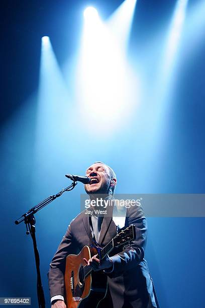 David Gray performs in concert at Hogg Memorial Auditorium on March 13 2010 in Austin Texas