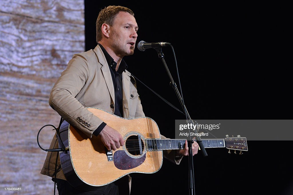 David Gray performs on stage in support of One campaign's Agit8 event at Tate Modern on June 12, 2013 in London, England.