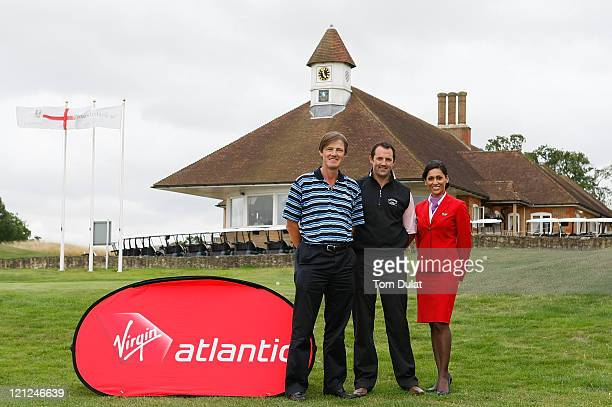 David Green and Richard Fawcett of Croham Hurst Golf Club pose for photographs after winning the Virgin Atlantic PGA National ProAm Championship...