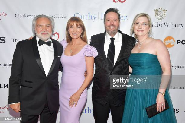 David Green Jane Seymour Terry Fator and Angie Fiore attend The Open Hearts Foundation's 2019 Open Hearts Gala at SLS Hotel on February 16 2019 in...