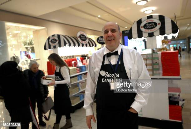 David Greenberg stands in front of his holiday popup store The See's Candies 'holiday gifting center' at The Shops at Chestnut Hill in Newton MA on...