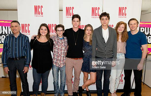 David Greenspan Annie Funke Noah Robbins Pico Alexander Lilly Englert Douglas Smith Colby Minifie and Will Pullen attend the Punk Rock cast photocall...