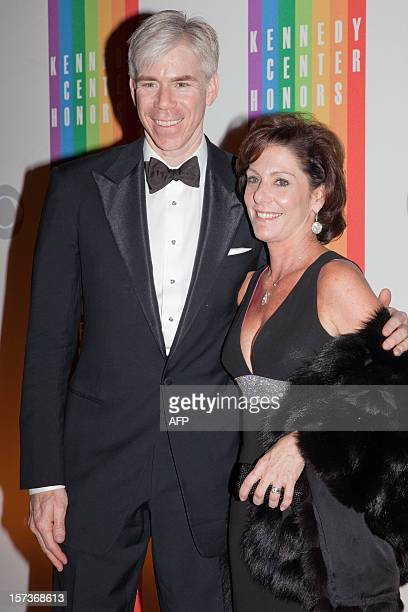 David Gregory and Beth Wilkinson arrive at the 35th Kennedy Center Honors at the Kennedy Center in Washington DC December 2 2012 AFP PHOTO / Drew...