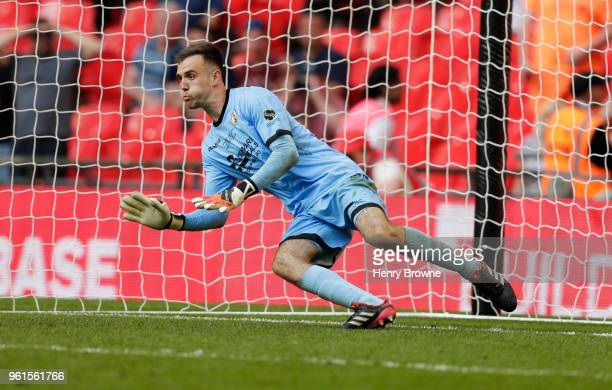 David Gregory of Bromley during The Buildbase FA Trophy Final between Brackley Town and Bromley FC at Wembley Stadium on May 20 2018 in London England