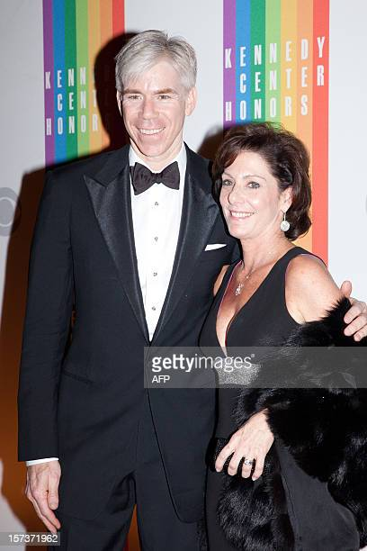 David Gregory of NBC News and his wife Beth Wilkinson arrive at the 35th Kennedy Center Honors at the Kennedy Center in Washington DC December 2 2012...