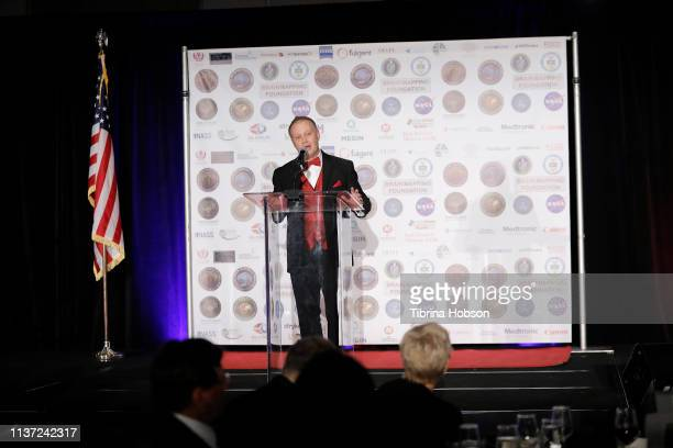 David Grimes speaks onstage at the 16th annual 'Gathering for Cure' black tie awards gala of Brain Mapping Foundation on March 16 2019 in Los Angeles...