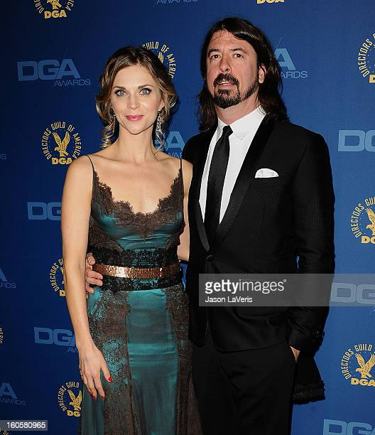 David Grohl and wife Jordyn Blum Grohl attend the 65th annual Directors Guild Of America Awards at The Ray Dolby Ballroom at Hollywood Highland...