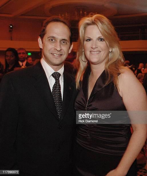 David Grossman and Trisha Yearwood during 2007 Recording Academy Honors - Atlanta Chapter - Reception at Westin Peachtree Plaza Hotel in Atlanta,...