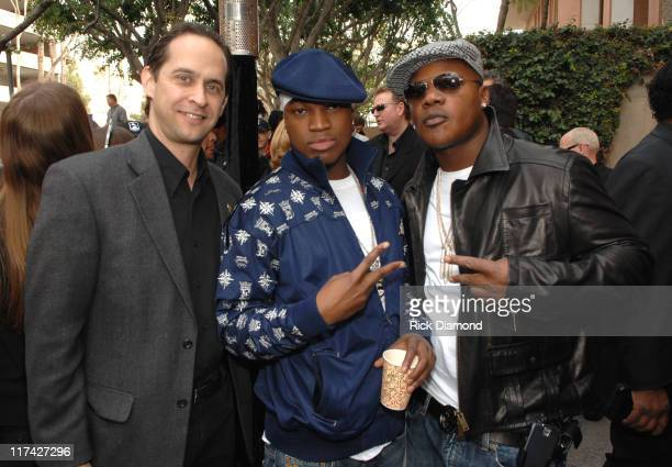 David Grossman, Ne-Yo and Lamont Dozier during The 49th Annual GRAMMY Awards - Career Day Presented by Gibson Foundation at University of Southern...
