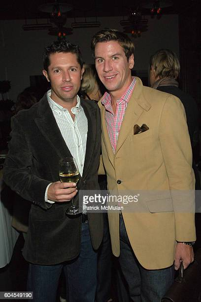 David Gruning and Peter Davis attend THE CINEMA SOCIETY and COLE HAAN host the afterparty for CANDY at Soho Grand Hotel on November 6 2006 in New...