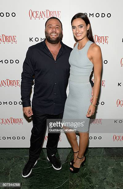 David Grutman and Isabela Rangel attends the Ocean Drive Magazine Hosts 23rd Anniversary with Ashley Benson on January 28 2016 in Miami Florida