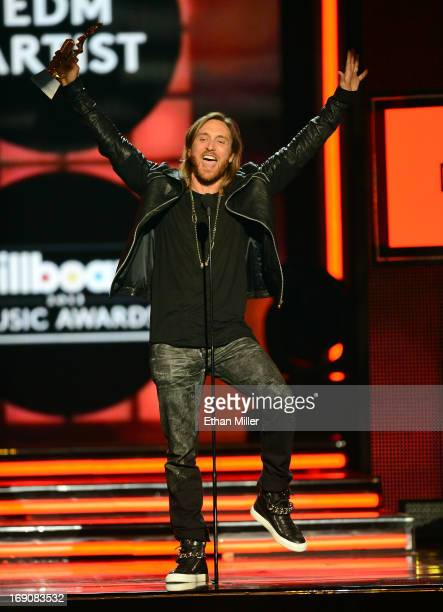 David Guetta accepts the award for Dance Artist of the Year onstage during the 2013 Billboard Music Awards at the MGM Grand Garden Arena on May 19...