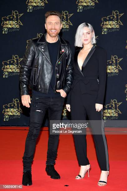 David Guetta and AnneMarie arrive at the 20th NRJ Music Awards at Palais des Festivals on November 10 2018 in Cannes France
