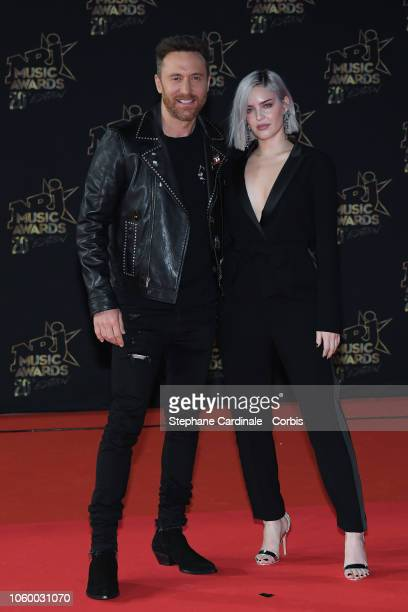 David Guetta and AnneMarie attend the 20th NRJ Music Awards at Palais des Festivals on November 10 2018 in Cannes France