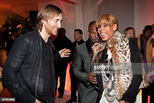 David Guetta and guest attend L'Ermitage on January 29 2010 in Los Angeles California